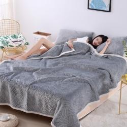 (总)明好家纺 法莱绒纯色复合毛毯