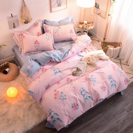 棉语家纺 全棉生态磨毛四件套床单款 梦语芬芳
