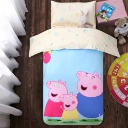 慈游棉业 幼儿园套件大版花型 小猪宝贝
