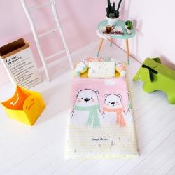 益家小太阳 睡袋 儿童睡袋 幼儿园儿童套件 嘟嘟熊