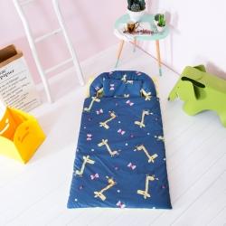 益家小太阳 睡袋 儿童睡袋 幼儿园套件 长颈鹿(深蓝)