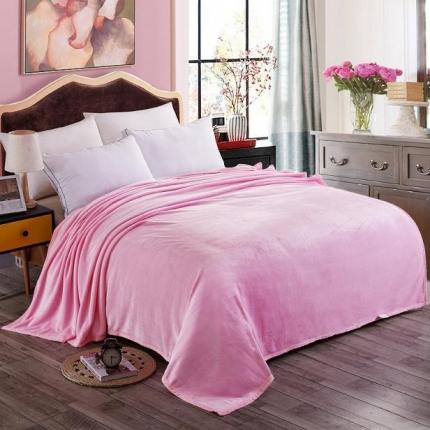 赋雅家纺 350克超柔加厚云貂绒毛毯 法莱绒床单盖毯毛毯 总