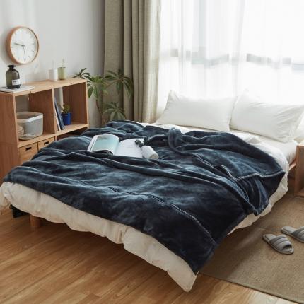 (总)寐眠 无印法莱绒厚毛毯