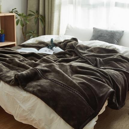 寐眠 无印法莱绒厚毛毯棕色