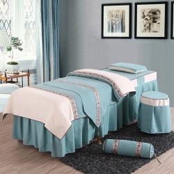 旺妙家纺 新款美容床罩比翼双飞四件套 比翼双飞-绿
