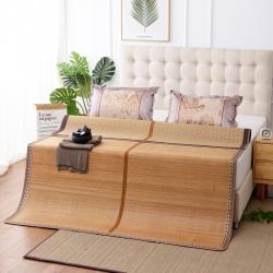 加厚双面凉席木纹可折叠镜面竹席水磨碳化竹凉席 水木年华
