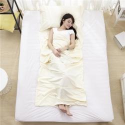 萌小叔家纺 宾馆酒店 隔脏旅行睡袋纯色全棉13372 米白