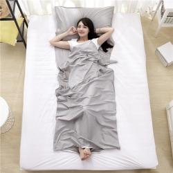 萌小叔家纺 宾馆酒店 隔脏旅行睡袋纯色全棉13372 银灰