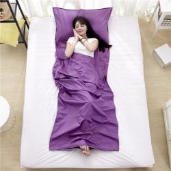 萌小叔家纺 宾馆酒店 隔脏旅行睡袋纯色全棉13372 紫色