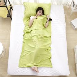 萌小叔家纺 宾馆酒店 隔脏旅行睡袋纯色全棉13372 果绿