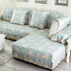 (总)宝阁家居 欧式麻料提花沙发垫