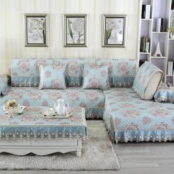 (总)宝阁家居 欧式印花沙发垫