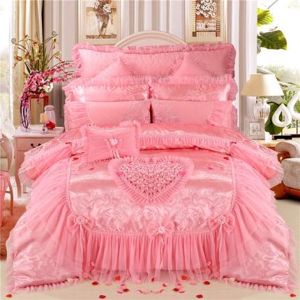 浩情国际 新款韩版蕾丝婚庆多件套 美好时光-粉色