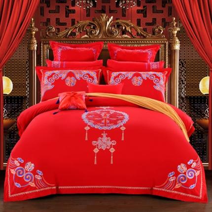 浩情国际 6月新款牛仔刺绣系列4-10件套系列中国风采