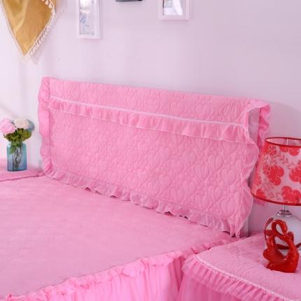 浩情国际 韩版蕾丝床头罩-开心果系列粉色