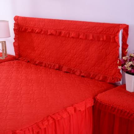 浩情国际 韩版蕾丝床头罩-开心果系列红色