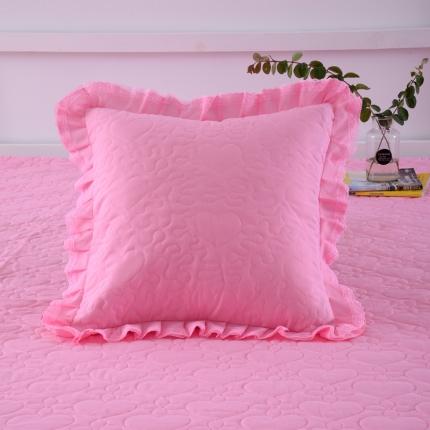 浩情国际 韩版蕾丝公主风系列方垫套一对 粉色