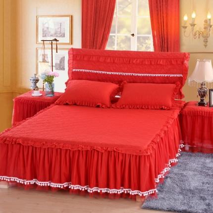 浩情国际 甜心款系列单品床裙 红色