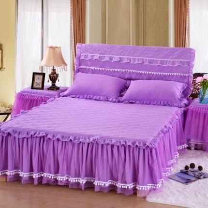 浩情国际 甜心款系列单品床裙 紫色