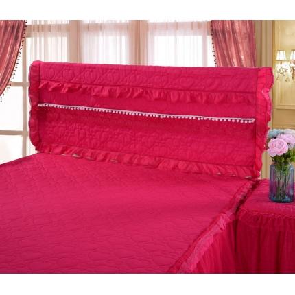 浩情国际 甜心款系列单品床头罩 玫红色
