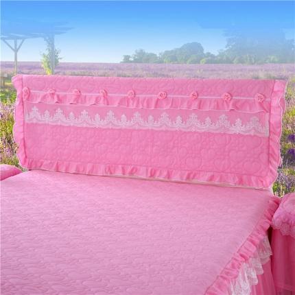 浩情国际 8月4号升级版玫瑰款床头罩系列 粉