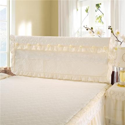 浩情国际 8月4号升级版玫瑰款床头罩系列 米