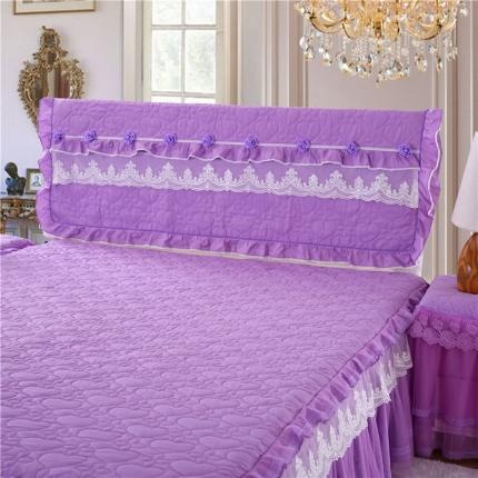 浩情国际 8月4号升级版玫瑰款床头罩系列 紫