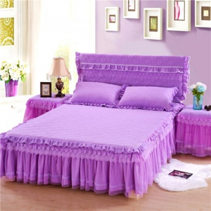 浩情国际 8月4号升级版玫瑰款床裙系列 紫