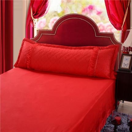 浩情国际 全棉蕾丝单品婚庆长枕系列(不含芯)红色