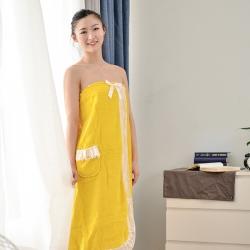 古德洛琦 2019新款浴袍 黄色浴裙90*140cm