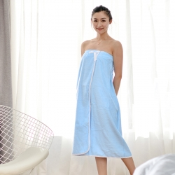 古德洛琦 2019新款浴袍 蓝色浴裙90*140cm