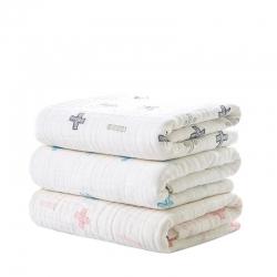 (总)米卡宝贝 新生婴儿多功能浴巾一条装