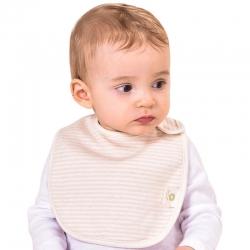 米卡宝贝 婴幼儿彩面弧形围嘴1条装