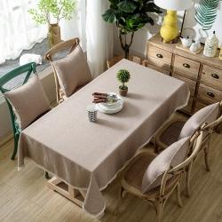 (总)布兰鸟家纺 竹节麻桌布餐桌布台布