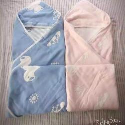那里家纺六层啥布盖被-可爱熊粉