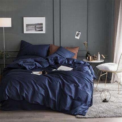 杰米家居 60素色长绒棉英文系列四件套床单款 想