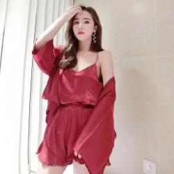朱小宁 2018新款睡衣 红色