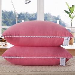 老地方家纺 水洗棉舒适枕芯48*74 粉色