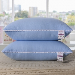 老地方家纺 水洗棉舒适枕芯48*74 蓝色