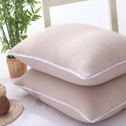 老地方家纺 水洗棉舒适枕芯48*74 驼色