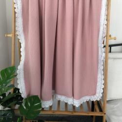 (总)觉蕾家居 蕾丝款针织棉多功能夏被盖毯