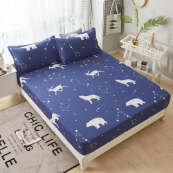 圣宝莎 可定做12868全棉单床笠床罩席梦思床垫保护套北极熊