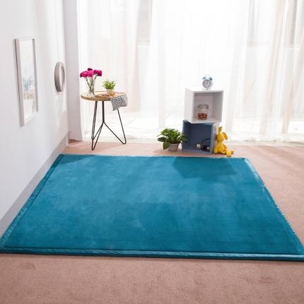 柠萌家居 地垫地毯飘窗垫宝宝爬行垫纯色地垫 宝蓝色