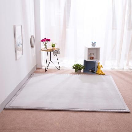 柠萌家居 地垫地毯飘窗垫宝宝爬行垫纯色地垫 灰色
