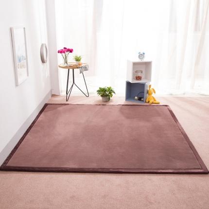 柠萌家居 地垫地毯飘窗垫宝宝爬行垫纯色地垫 深咖色