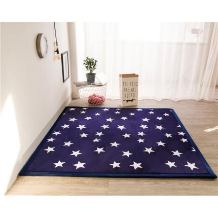 柠萌家居 地垫地毯飘窗垫宝宝爬行垫印花地垫 星空
