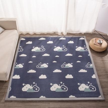 柠萌家居 地垫地毯飘窗垫宝宝爬行垫印花地垫 云朵之恋