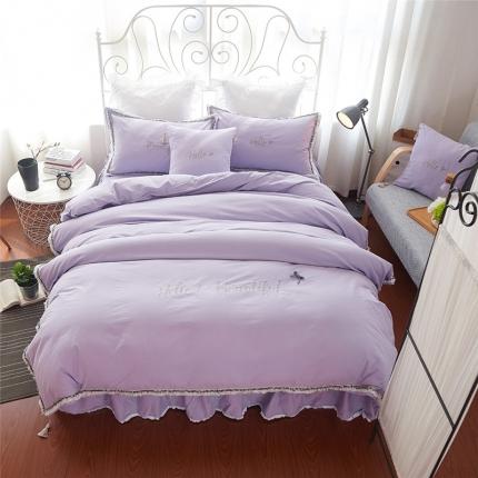 桔子家纺 coco小香风系列四件套 魅惑紫