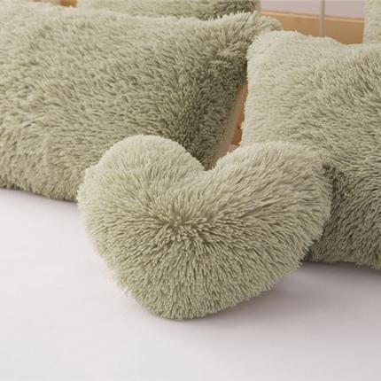 (总)桔子家纺 水貂绒四件套同款爱心抱枕方形抱枕