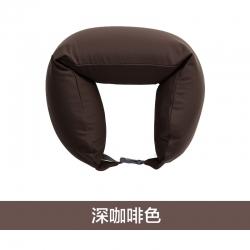 阁金良品家纺 2018新款无印良品风U型枕护颈枕 深咖啡色